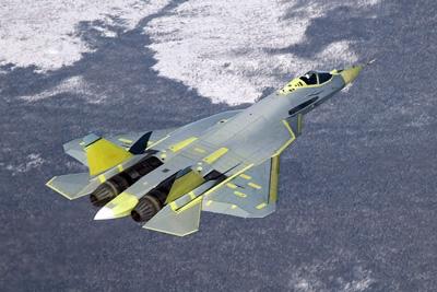 File:Pak fa in flight.jpg