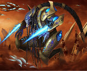 Injured protoss zealot by bugball