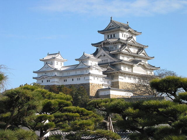 File:800px-Himeji Castle The Keep Towers.jpg