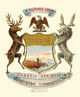 Michigan state coat of arms (illustrated, 1876)