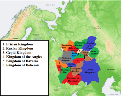 Map of the Germanic Confederation