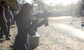 Woman shooting
