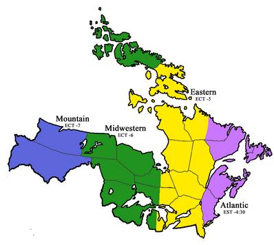 Vinland Time Zones