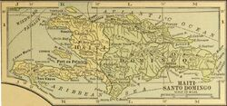 Haiti and Santo Domingo inset map (1921)