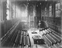 House of Lords chamber, F. G. O. Stuart