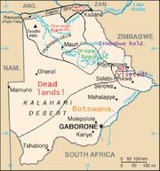 HCW 1996.Botswana map2