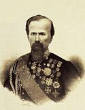 Paolo Calvi - ritratto di Enrico Cialdini - litografia - 1850-1860