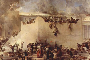 Driving out of Jews from Temple of solomon-