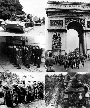 Battle of France collage