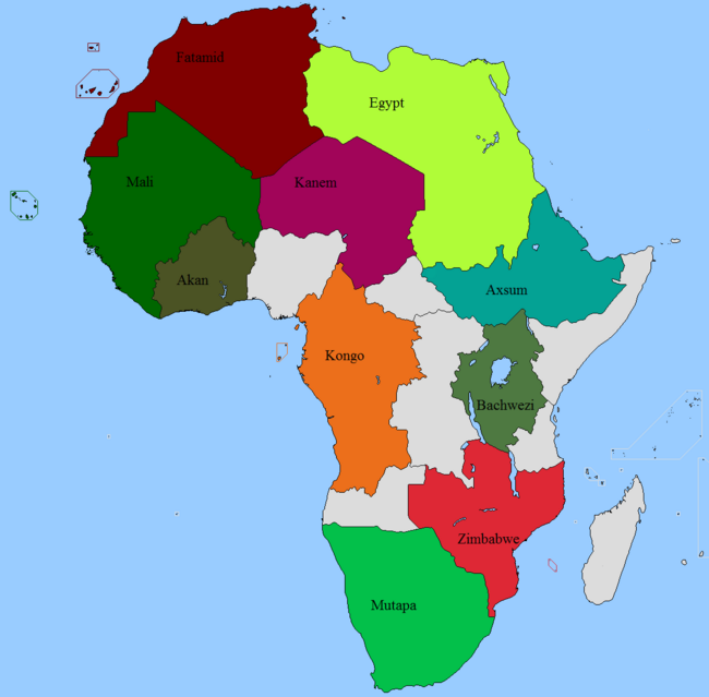 Map Contest, No Colonization Africa