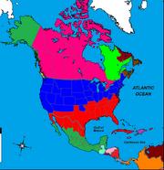 Map of North America (Civil War Stalemate)
