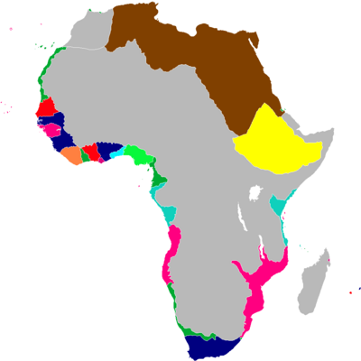 Scramble for Africa Map 1848