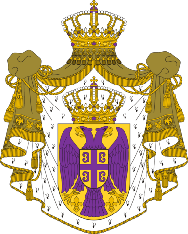 File:Coat of Arms of the Kingdom of Serbia by eric4e.png