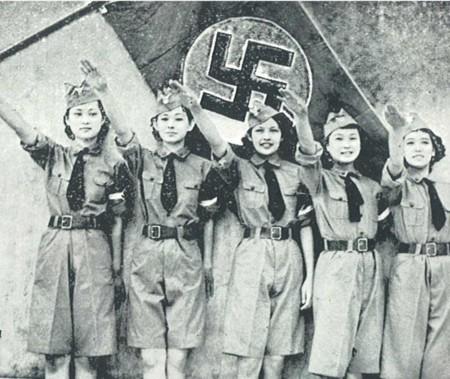 File:Nichigeki dancing team musical revue Heil Hitler for Hitlerjugend 1938.jpg