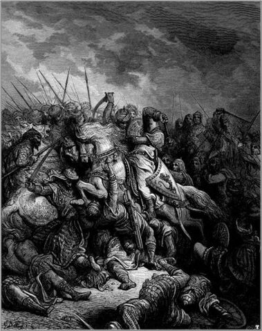 File:474px-Gustave dore crusades richard and saladin at the battle of arsuf.jpg