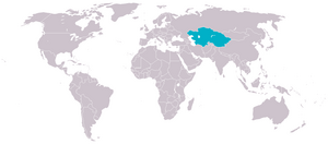 Location of Turkestan