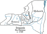 Iroquois 6 Nations map c1720