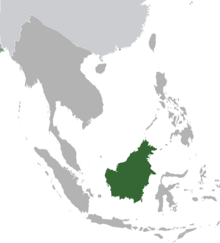 Brunei province map