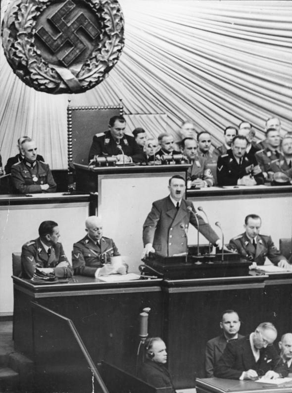 adolf hitler speech critique Commentator hv kaltenborn concludes the broadcast with a description of the scene, a translation of the speech, and an analysis which is cut off before completion contributor: hitler, adolf.