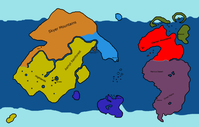 Krystalis Map Seven City States