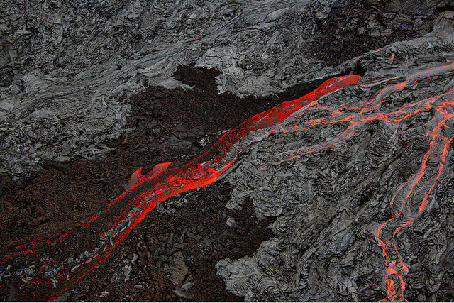 File:800px-Pāhoehoe and Aa flows at Hawaii.jpg