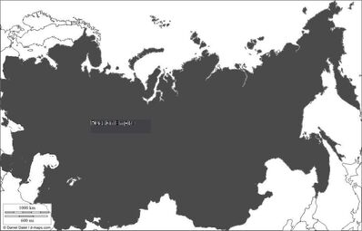 The map of the Russian Empire
