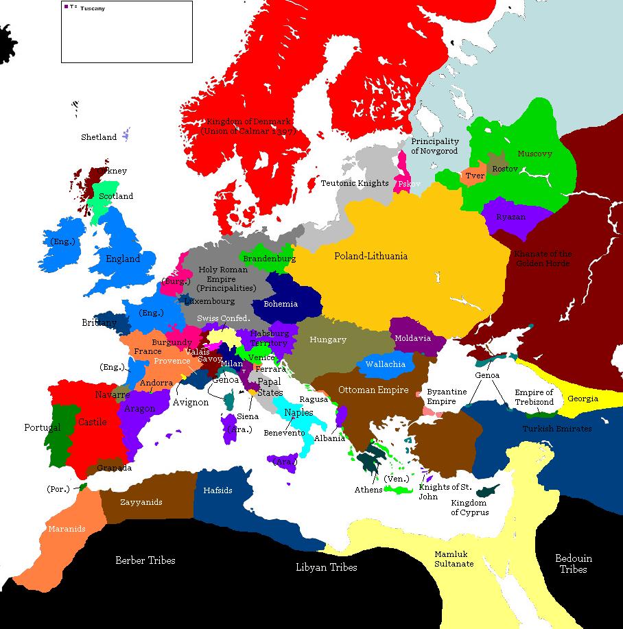 Europe 1100 Map