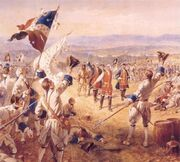 The Victory of Montcalms Troops at Carillon by Henry Alexander Ogden