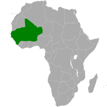 Map of Africa with Songhai highlighted