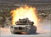 M1A1 exploding