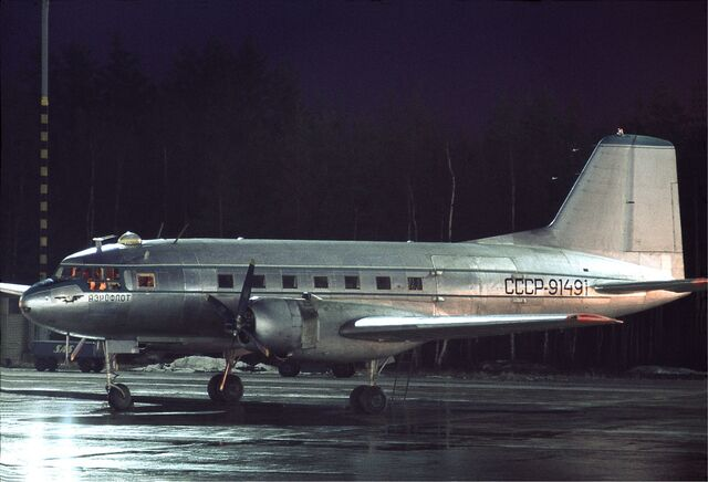 File:Aeroflot Ilyushin Il-14 at Arlanda, November 1970.jpg