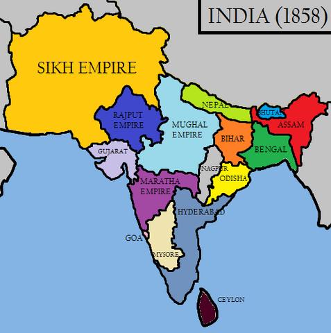 File:India in 1858 (Raj Karega Khalsa).png
