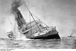 Bundesarchiv DVM 10 Bild-23-61-17, Untergang der Lusitania