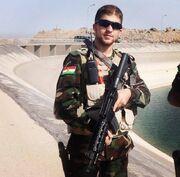 Peshmerga soldier at the dam of Mosul