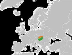 Hungary Slovakia Locator