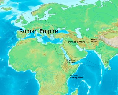Western Empires circa 680 CE