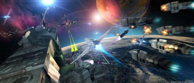 File:Space battle scene by genesisa.jpg