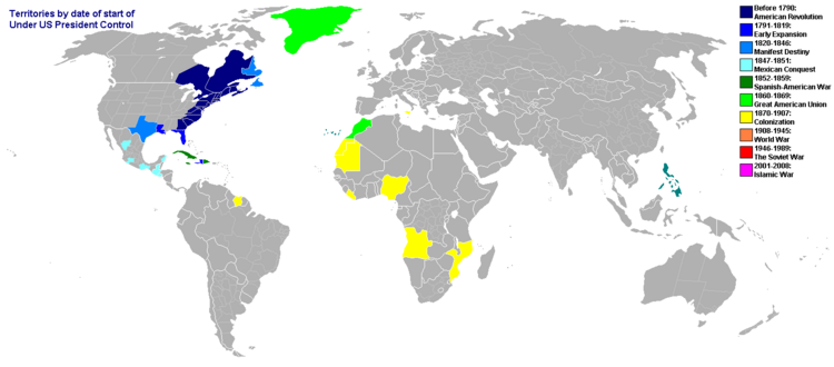 American Empre World Map