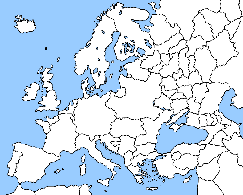 Image Blank Map Of Europe IM Outdatedpng Alternative - Europe blank map