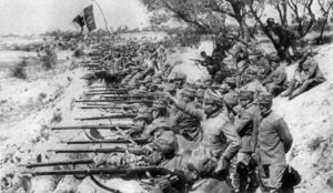 Italian troops at Isonzo river