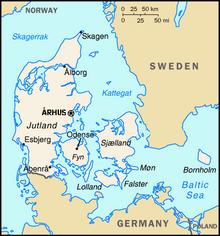 Map of Denmark (1983DD)