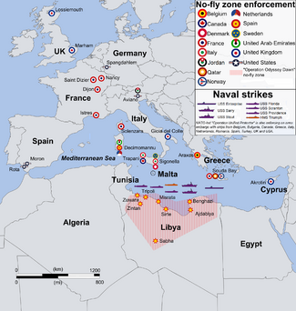 Coalition action against Libya