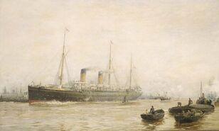 Teutonic leaving Liverpool