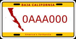 License plate of Baja (Alternity)
