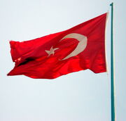 TurkishFlagFlying