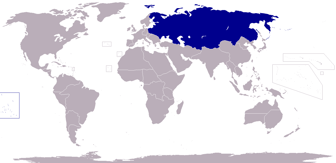 Image Location Of Russia A World Of Differencepng - Russia location