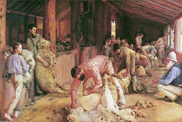 Tom Roberts - Shearing the Rams
