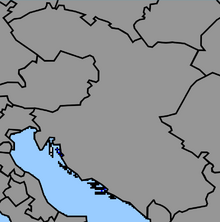 Map of Yugoslavia (1861 HF)