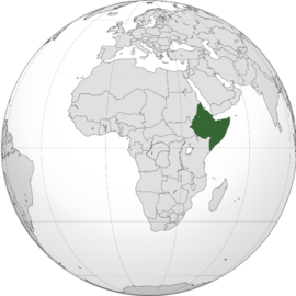 Ethiopia (orthographic projection)