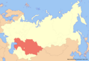 Location of Kazakhstan (New Union)